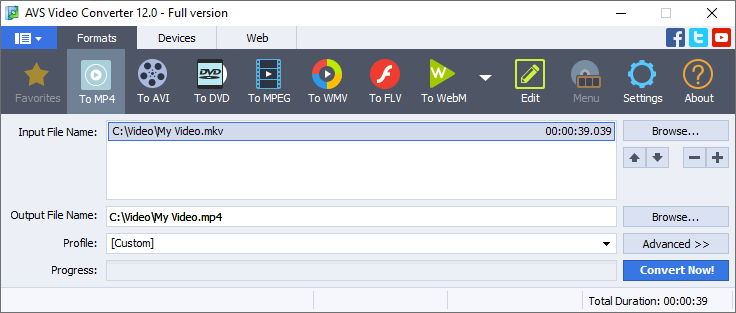 The interface of Video Converter