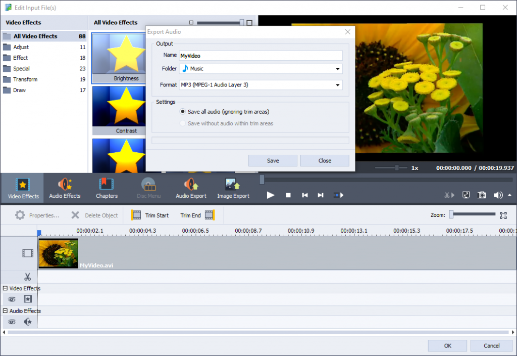 Video converter interface