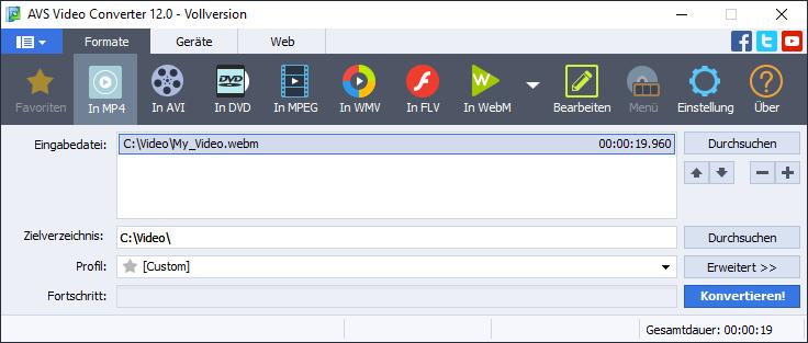 WebM conversion screenshot