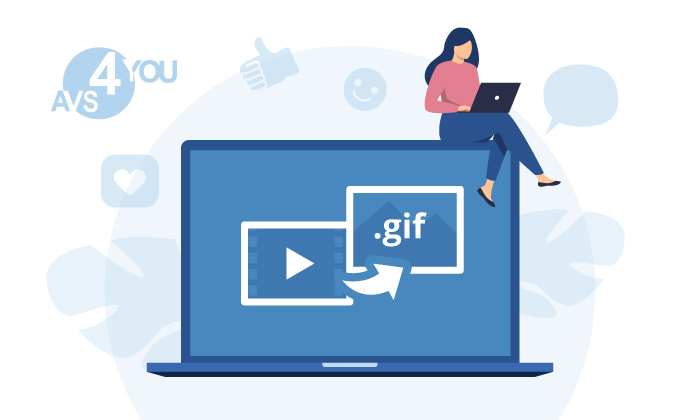 Convert videos to gif in AVS Video Converter