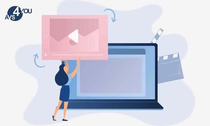 Kopfstehende Videos in AVS Video Editor drehen