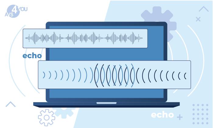Hinzufügen vom Echo-Effekt zur Audiodatei