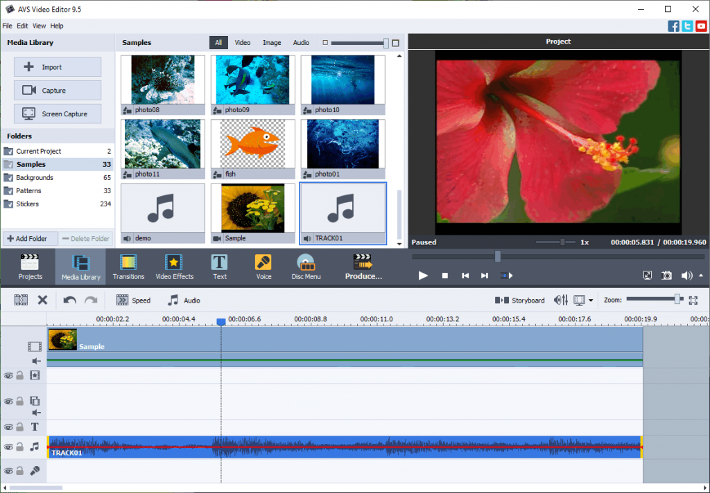 Add music to video in AVS Video Editor