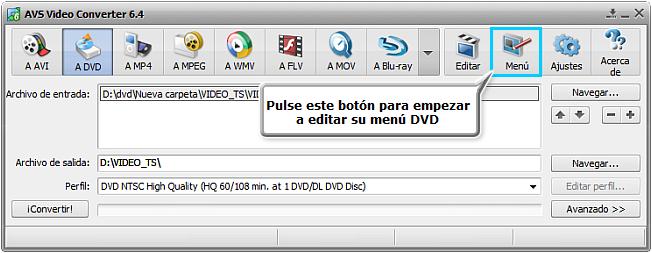 ¿Cómo grabar vídeo en DVD? Paso 5