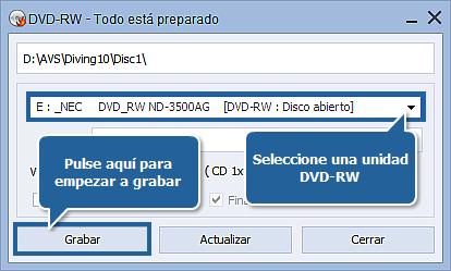 ¿Cómo grabar vídeo en DVD? Paso 6