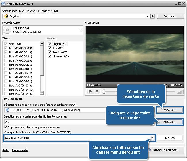 Comment copier un dvd et reduire un dvd9 jusqu 39 un dvd5 - Combien de temps dur un retour de couche ...
