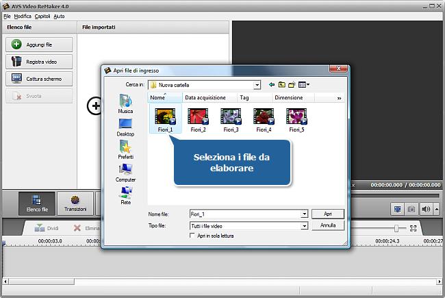 Come unire più video in un unico file? Passo 2