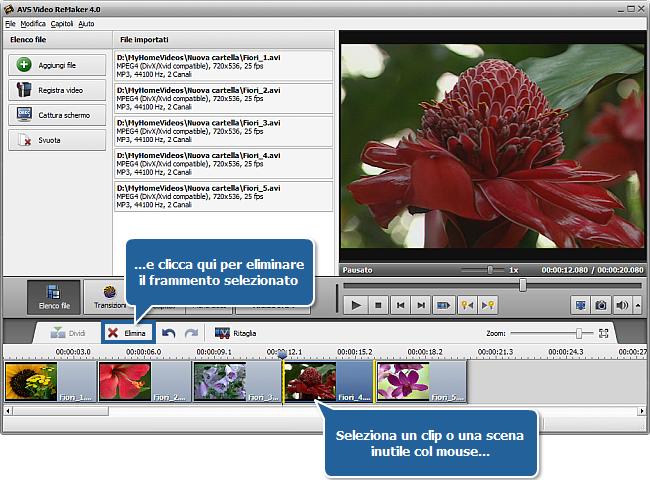 Come unire più video in un unico file? Passo 3