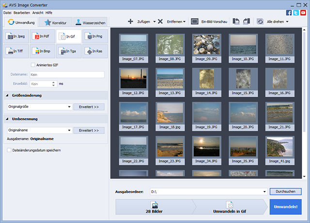 Screenshot vom Programm: AVS Image Converter