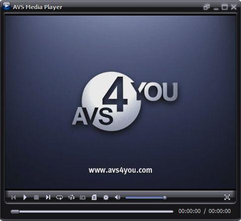 Screenshot vom Programm: AVS Media Player