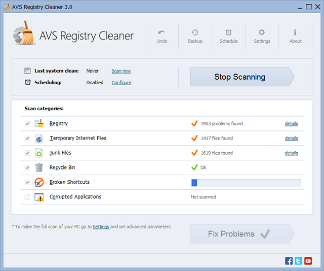 Click to view AVS Registry Cleaner 2.3.2.257 screenshot